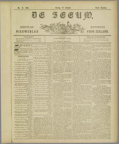 De Zeeuw. Christelijk-historisch nieuwsblad voor Zeeland 1895-12-24