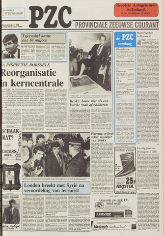 Provinciale Zeeuwse Courant 1986-10-25