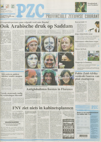 Provinciale Zeeuwse Courant 2002-11-11