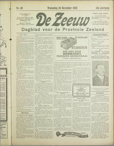 De Zeeuw. Christelijk-historisch nieuwsblad voor Zeeland 1930-11-26