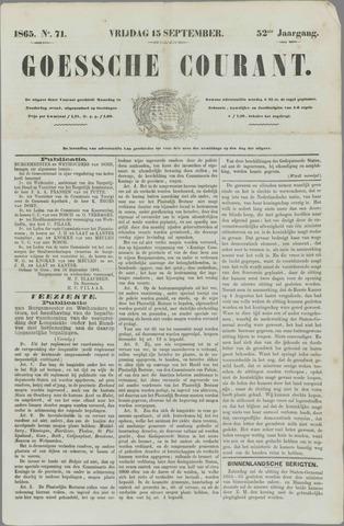 Goessche Courant 1865-09-15