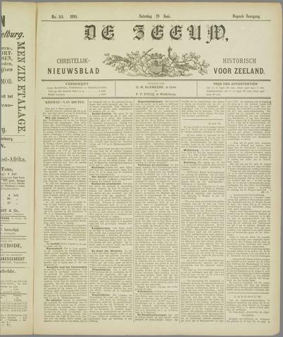 De Zeeuw. Christelijk-historisch nieuwsblad voor Zeeland 1895-06-29