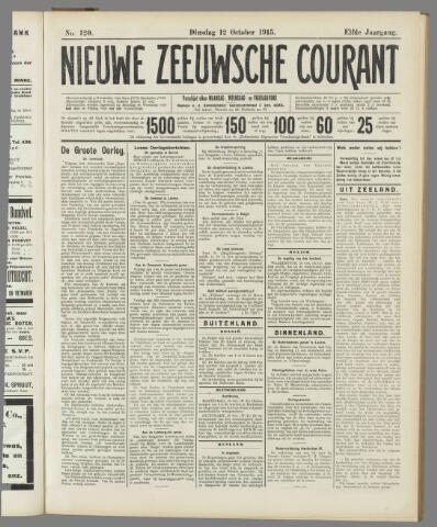 Nieuwe Zeeuwsche Courant 1915-10-12