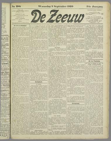 De Zeeuw. Christelijk-historisch nieuwsblad voor Zeeland 1920-09-08