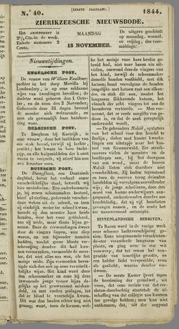 Zierikzeesche Nieuwsbode 1844-11-18