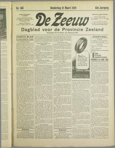 De Zeeuw. Christelijk-historisch nieuwsblad voor Zeeland 1929-03-21