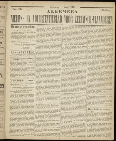 Ter Neuzensche Courant. Algemeen Nieuws- en Advertentieblad voor Zeeuwsch-Vlaanderen / Neuzensche Courant ... (idem) / (Algemeen) nieuws en advertentieblad voor Zeeuwsch-Vlaanderen 1873-06-18