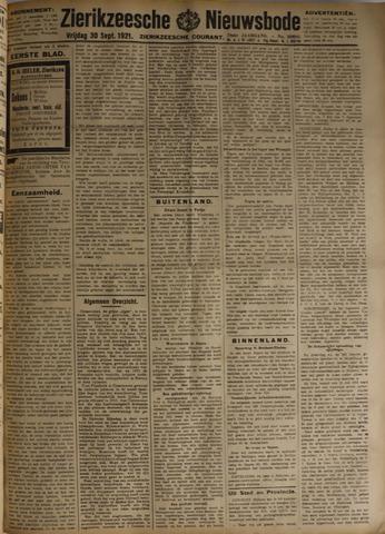 Zierikzeesche Nieuwsbode 1921-09-30