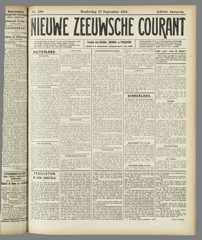Nieuwe Zeeuwsche Courant 1912-09-12