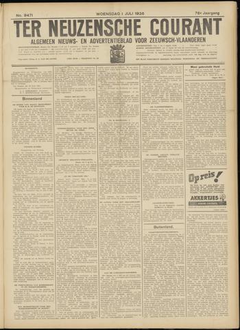 Ter Neuzensche Courant. Algemeen Nieuws- en Advertentieblad voor Zeeuwsch-Vlaanderen / Neuzensche Courant ... (idem) / (Algemeen) nieuws en advertentieblad voor Zeeuwsch-Vlaanderen 1936-07-01