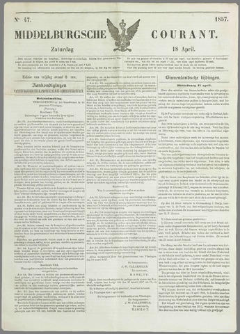 Middelburgsche Courant 1857-04-18