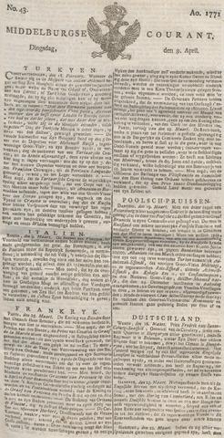 Middelburgsche Courant 1771-04-09