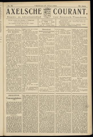 Axelsche Courant 1934-07-27