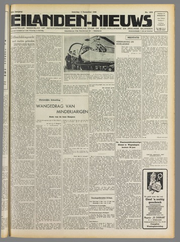 Eilanden-nieuws. Christelijk streekblad op gereformeerde grondslag 1949-12-03