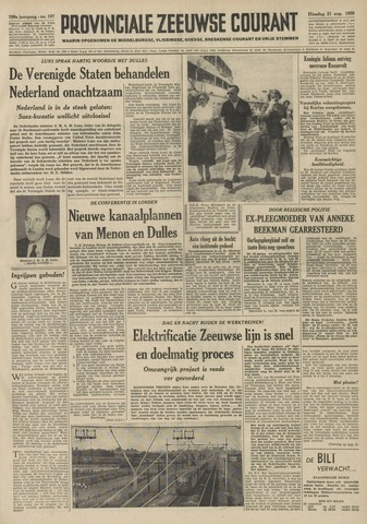 Provinciale Zeeuwse Courant 1956-08-21