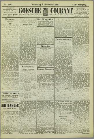 Goessche Courant 1927-11-02