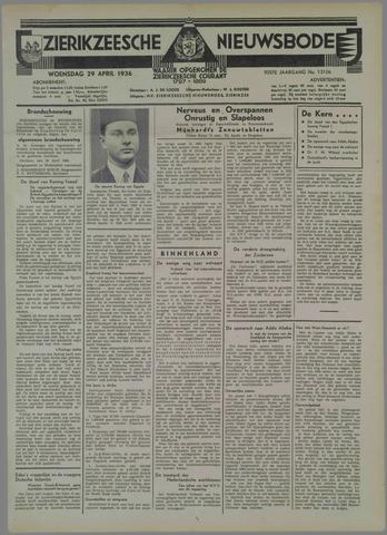Zierikzeesche Nieuwsbode 1936-04-29