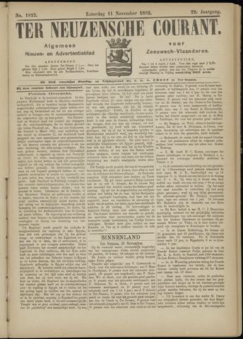 Ter Neuzensche Courant. Algemeen Nieuws- en Advertentieblad voor Zeeuwsch-Vlaanderen / Neuzensche Courant ... (idem) / (Algemeen) nieuws en advertentieblad voor Zeeuwsch-Vlaanderen 1882-11-11