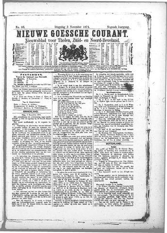 Nieuwe Goessche Courant 1874-11-03