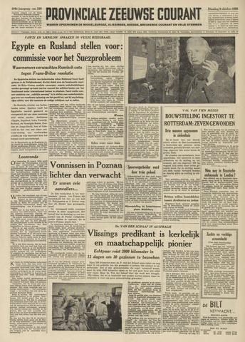 Provinciale Zeeuwse Courant 1956-10-09