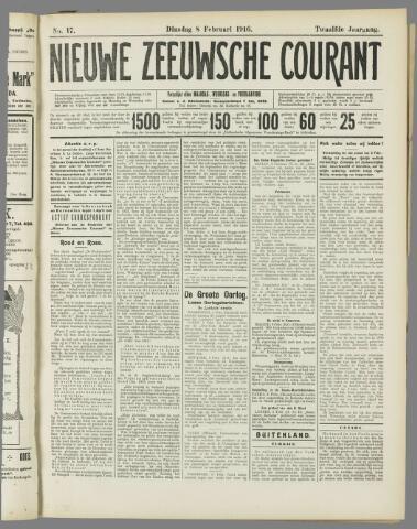 Nieuwe Zeeuwsche Courant 1916-02-08