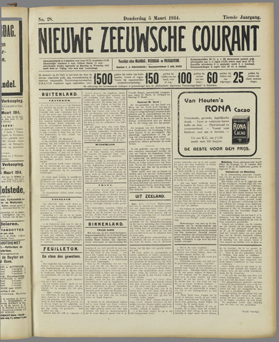 Nieuwe Zeeuwsche Courant 1914-03-05