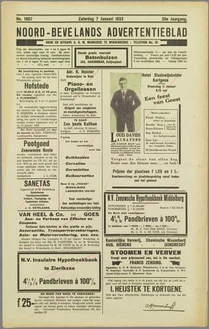 Noord-Bevelands Nieuws- en advertentieblad 1933-01-07