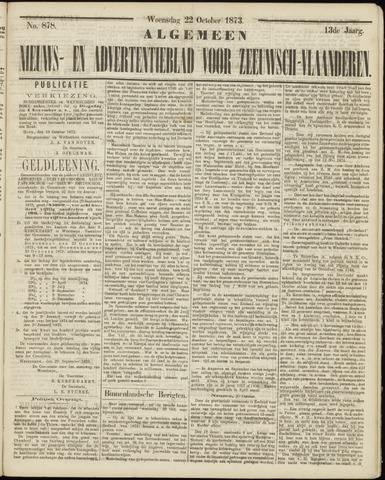 Ter Neuzensche Courant. Algemeen Nieuws- en Advertentieblad voor Zeeuwsch-Vlaanderen / Neuzensche Courant ... (idem) / (Algemeen) nieuws en advertentieblad voor Zeeuwsch-Vlaanderen 1873-10-22