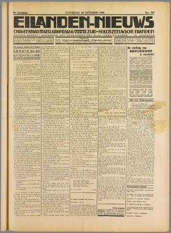 Eilanden-nieuws. Christelijk streekblad op gereformeerde grondslag 1936-10-24