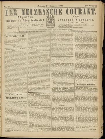 Ter Neuzensche Courant. Algemeen Nieuws- en Advertentieblad voor Zeeuwsch-Vlaanderen / Neuzensche Courant ... (idem) / (Algemeen) nieuws en advertentieblad voor Zeeuwsch-Vlaanderen 1904-08-27