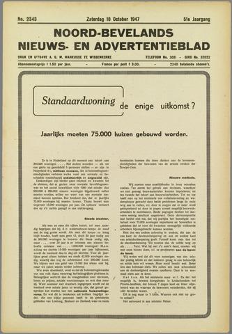 Noord-Bevelands Nieuws- en advertentieblad 1947-10-18