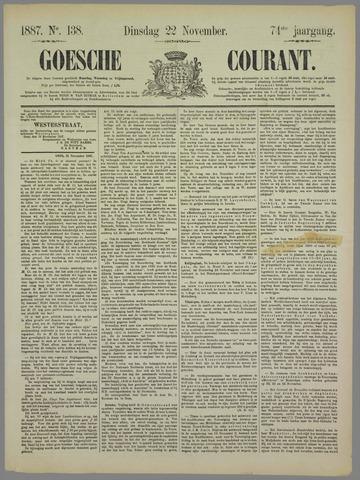 Goessche Courant 1887-11-22