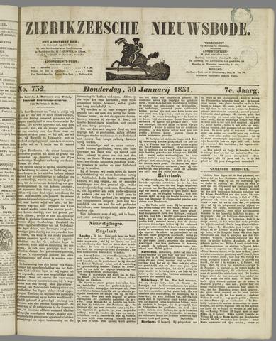Zierikzeesche Nieuwsbode 1851-01-30