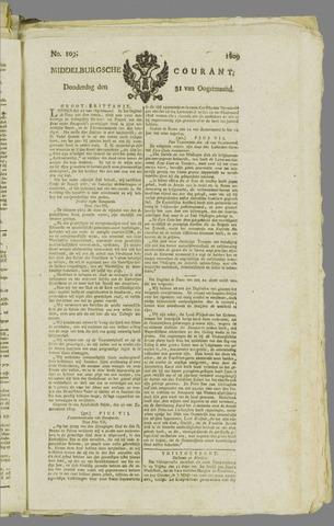 Middelburgsche Courant 1809-08-31
