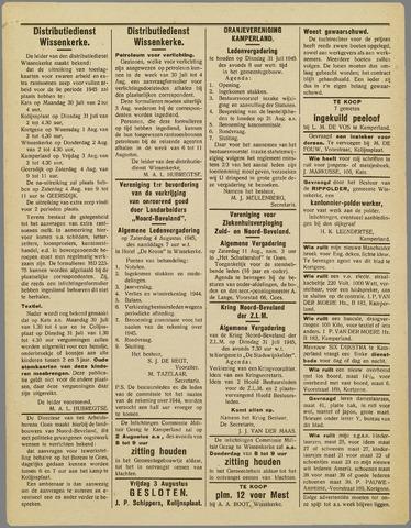 Noord-Bevelands Nieuws- en advertentieblad 1945-08-04