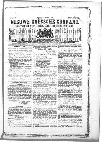 Nieuwe Goessche Courant 1876-03-03