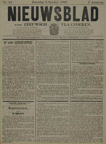 Nieuwsblad voor Zeeuwsch-Vlaanderen 1892-10-08