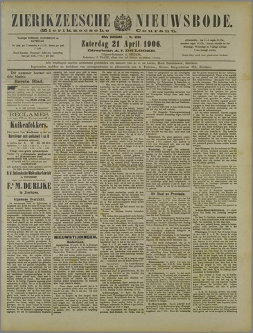 Zierikzeesche Nieuwsbode 1906-04-21