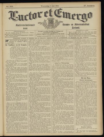 Luctor et Emergo. Antirevolutionair nieuws- en advertentieblad voor Zeeland / Zeeuwsch-Vlaanderen. Orgaan ter verspreiding van de christelijke beginselen in Zeeuwsch-Vlaanderen 1914-07-01