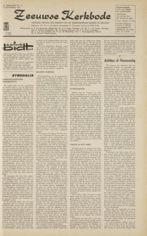 Zeeuwsche kerkbode, weekblad gewijd aan de belangen der gereformeerde kerken/ Zeeuwsch kerkblad 1963-09-20