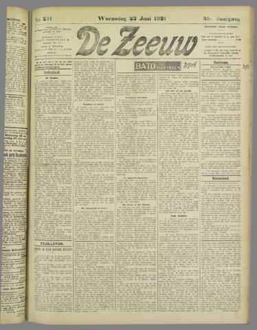 De Zeeuw. Christelijk-historisch nieuwsblad voor Zeeland 1921-06-22