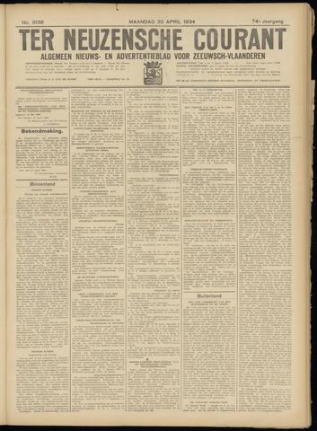 Ter Neuzensche Courant. Algemeen Nieuws- en Advertentieblad voor Zeeuwsch-Vlaanderen / Neuzensche Courant ... (idem) / (Algemeen) nieuws en advertentieblad voor Zeeuwsch-Vlaanderen 1934-04-30