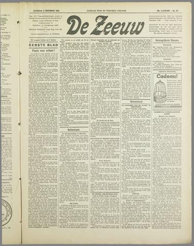 De Zeeuw. Christelijk-historisch nieuwsblad voor Zeeland 1934-11-03