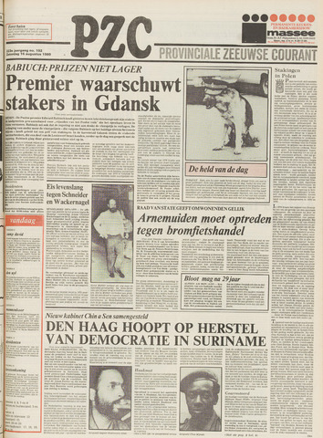 Provinciale Zeeuwse Courant 1980-08-16