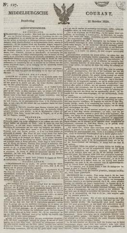 Middelburgsche Courant 1829-10-22