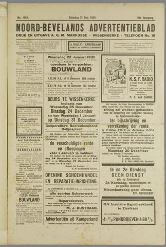 Noord-Bevelands Nieuws- en advertentieblad 1929-12-21