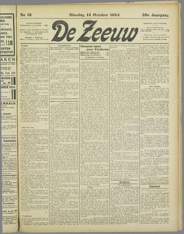 De Zeeuw. Christelijk-historisch nieuwsblad voor Zeeland 1924-10-14