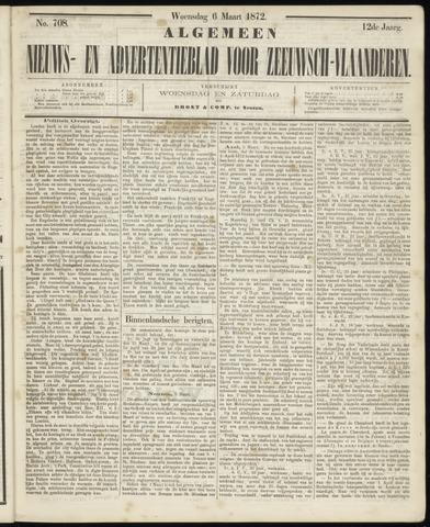 Ter Neuzensche Courant. Algemeen Nieuws- en Advertentieblad voor Zeeuwsch-Vlaanderen / Neuzensche Courant ... (idem) / (Algemeen) nieuws en advertentieblad voor Zeeuwsch-Vlaanderen 1872-03-06