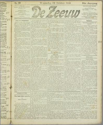 De Zeeuw. Christelijk-historisch nieuwsblad voor Zeeland 1919-10-22