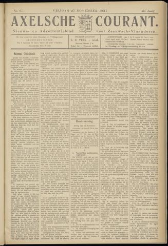 Axelsche Courant 1931-11-27